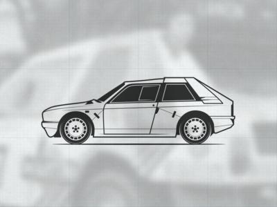 Lancia Delta S4 illustration (part 2) rally automotive car icon vector illustration s4 delta lancia