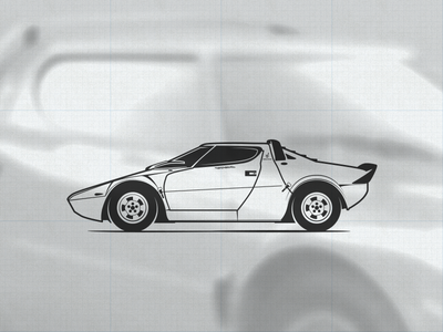 Lancia Stratos HF illustration vector rally lancia illustration icon stratos car automotive