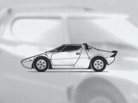 Lancia Stratos HF illustration