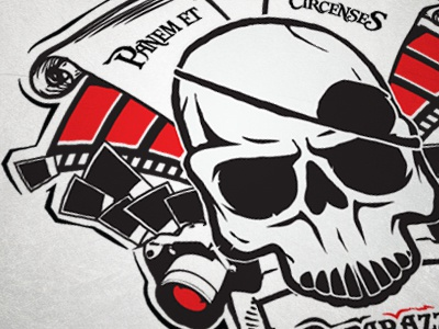 Challenge Accepted [Part 2] pirates vector camera tshirt design black red