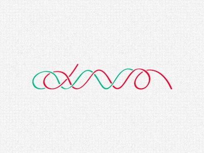 DNA dna typeface typography red green swirl
