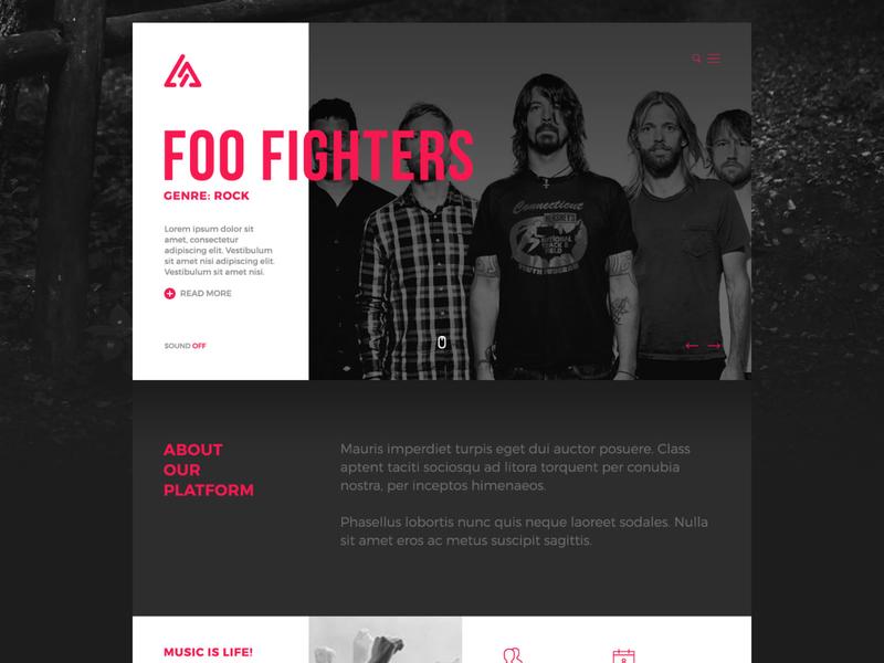 Trianglify Music web  design logo design branding cms wordpress music platform responsive graphic design music app