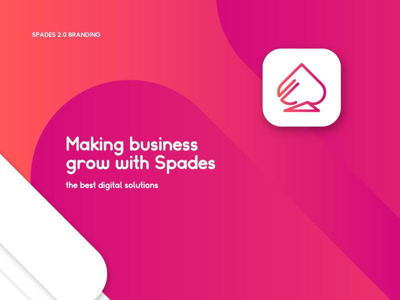 Spades 2.0 logo design branding stationary app web design graphic design marketing digital