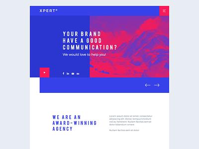 Xpert® Responsive PSD Website Template logo design branding graphic design cms wordpress responsive web design website