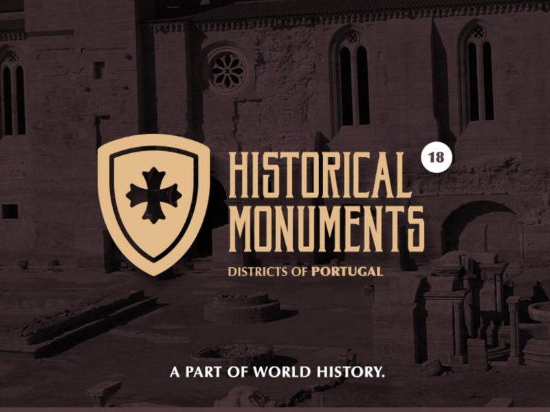 Historical Monuments of Portugal Districts portugal historical monuments advertising graphic design branding