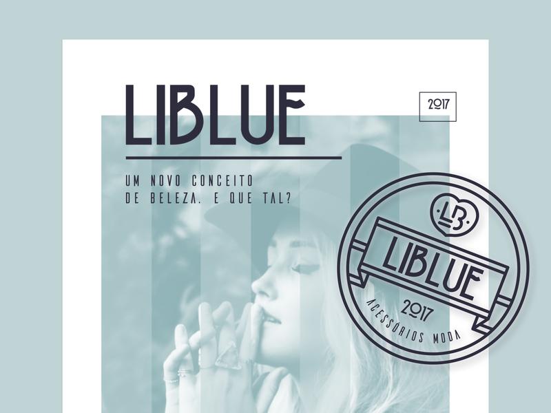 Liblue Fashion stationery logotype logo design logo advertising graphic design branding