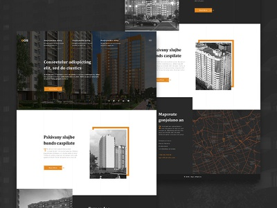 Website for Residential Complex residential complex website web ux ui social preview home design app
