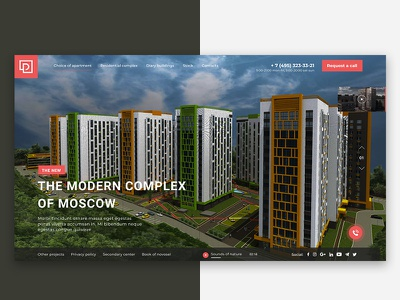 Home Screen Residential Complex residential complex website web ux ui social preview home design beautiful app