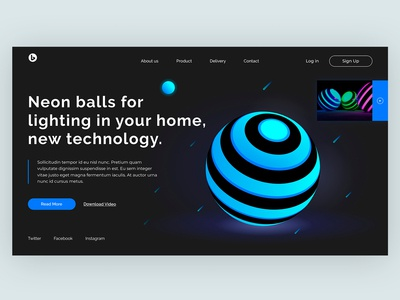 Home Screen - Neon Balls