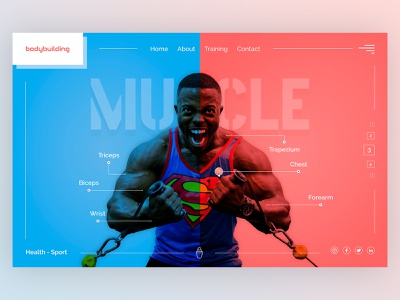 Gym Home Page gym home cart concept product beautiful preview website design web ux ui