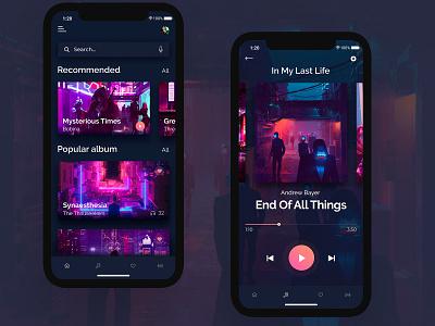 Music App Concept music website design minimal product beautiful preview home social app web ux ui