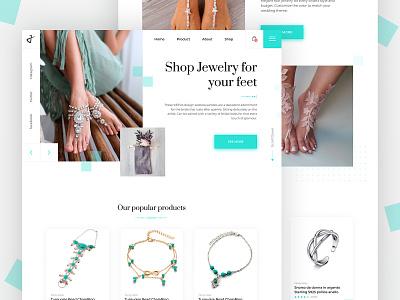 Landing Page Jewelry Feet landing page landing foot woman preview home jewelry feet feet jewelry minimal product card concept website design web ux ui