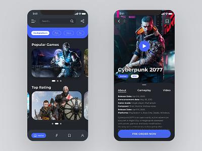 Video Game Store App black game store games design gaming videogame games game minimal beautiful app website design web ux ui