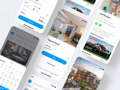 Real Estate UI iOS Application real estate agency app rent house app real estate app real estate app design design clean design ux ui
