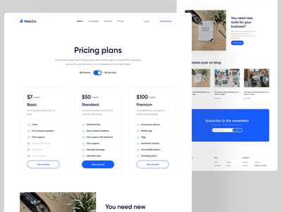 Marketing Website - Pricing plan page  💸 minimalist clean webdesigning website marketing agency marketing webdesign marketing site webdesign pricing page pricing plans pricing plan pricing table pricing clean design ux ui