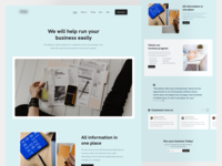Accounting Start-up Style Exploration startups minimal accounting accountant landing page ui design design app design clean design ux ui website landing startup