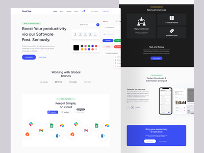 TodoList - Website HomePage style clean website management website task list page task management website todo website minimalistic saas landing page clean layout product landing page landing page productdesign product page elements saas product website ux ui