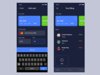MyWallet Dark Mode Cryptocurrency Add Card Process