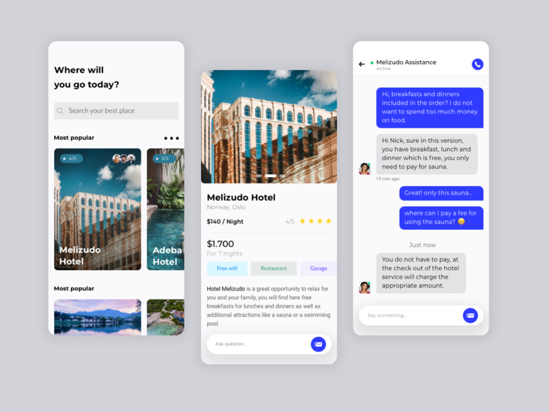 Hotel Review And Assistance By Dawid Jankowski For Etheric On Dribbble