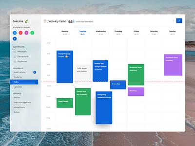 JeaLins🍃 To-Do Calendar calendar task app task list tasks todo list todo app todolist dashboard design todo dashboard app design ui ux clean design
