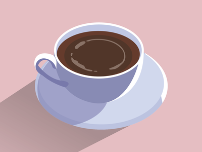 Cup of coffee ☕️ design cafe brew morning caffeine illustration cup of coffee cup coffee