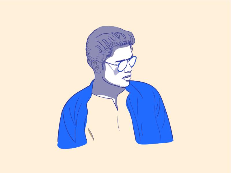 Happy Birthday Muthu Ganesh minimalisticportrait illustration