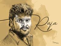 Pen and Digital Drawing (Raja)