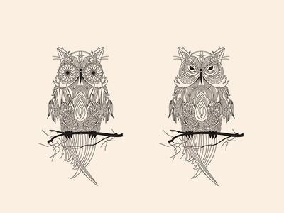 Owl lineart