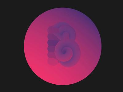 B — 36 Days of Type interactive webdesigner letteringchallenge customtype spline typogaphy gradient 3d type 3d typedesign 36daysoftype
