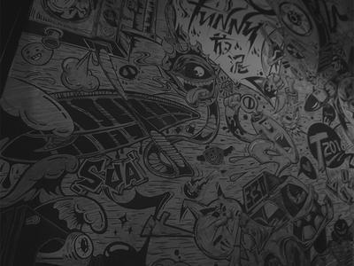 funny放泥 、funny graffiti