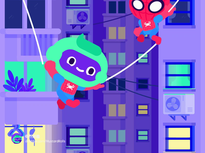 Spider man 英雄归来 蜘蛛侠 hero swinging city sony stan lee peter parker marvel iron man vector mustardrolls illustration body moive illustrator ae motion animation homecoming