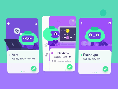 Todo-app kongfu joyride playtime work push ups 俯卧撑 芥末卷 sketch mobile app uiux ui8 after effects material design vector ae ui mustardrolls motion animation illustrator