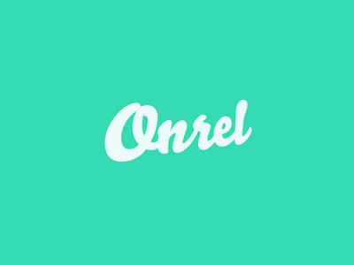Onrel Logo logo green logotype white
