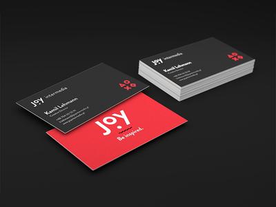 Joy Intermedia - business card joy intermedia business card paper creative director black red branding print