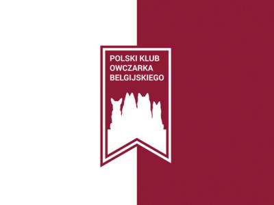 Polish Belgian Shepherd Club logo poland dog dogs belgian shepherd club red white logotype
