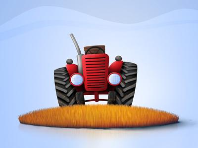 Hen Hero - Tractor tractor grass hen hero mobile game