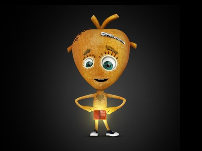 Heart - Character Design character hero orange book heart
