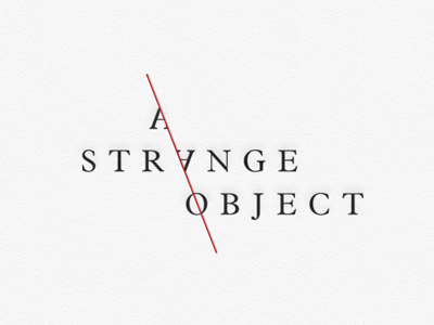 A Strange Object logo identity books publishing