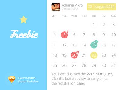 Baby calendar + .sketch file calendar baby app