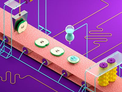 Eating Machine digestive foodpipe tongue grinders molars saliva spit teeth incisors food machine eating