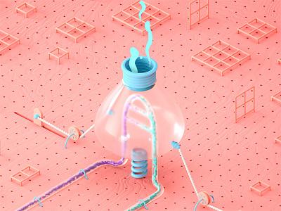 Circulation Machine - Lung tube breath air lung pegboard octane machine heart circulation blood