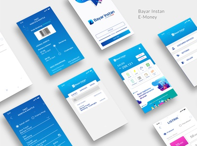 UI for E-money BayarInstan