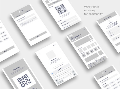 Wireframes for E-money Community