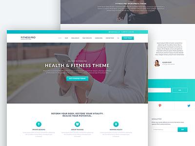 Fitness Pro WordPress Theme theme web design genesis framework health fitness wordpress