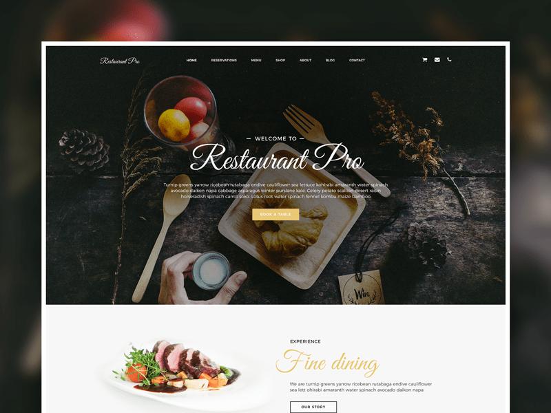 Restaurant Pro Genesis Child Theme template theme web design cafe food restaurant genesis framework wordpress
