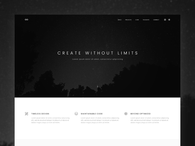 Limitless Pro Genesis Child Theme template theme web design freelancer creative agency minimal genesis framework wordpress