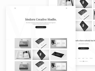Modern Creative Studio web white space portfolio minimal