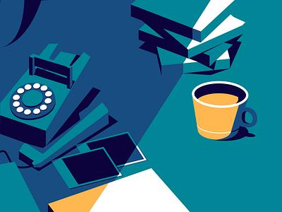 Memories coffee contrast design poster illustrtion illustrator
