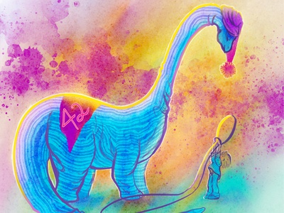 Dino Racer Character Design Challenge brontosaurus dinosaur procreate illustration digital photoshop character design