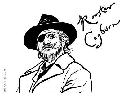 Rooster Cogburn characters books inktober2020 inktober